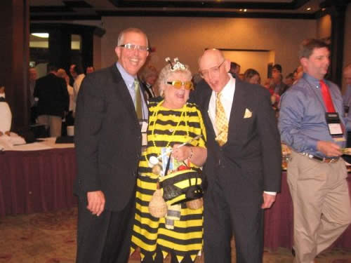 Dave Webb - Apiary owner, Carol Stricker - Queen Bee, Steve Proffitt - Victim