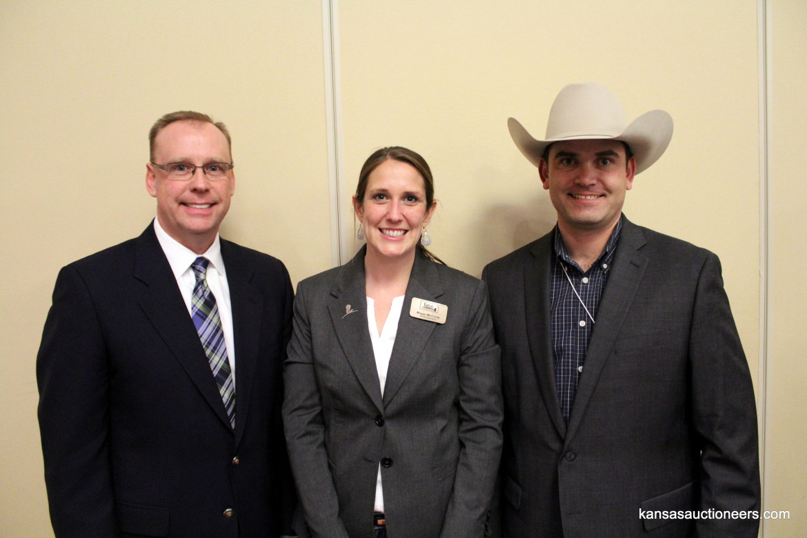 IAC Champion Kevin Borger, IAC Champion Megan McCurdy, World Livestock Champion Charly Cummings